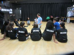 Drama pupils get master class from Frantic Assembly